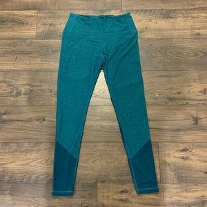 Zella Emerald Green EUC Leggings Yoga Pants Large